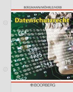 Cover der Loseblattsammlung Datenschutzrecht von Bergmann, Möhrle, Herb